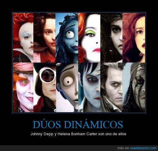 dinamico,duo,Helena Bonham Carter,Johnny Depp,personajes