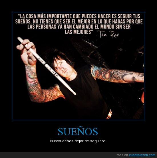 avenged sevenfold,foREVer,frases,sueños,the rev