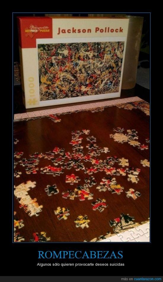 cuadro,esto es de satanas,pollock,puzzle,rompecabezas