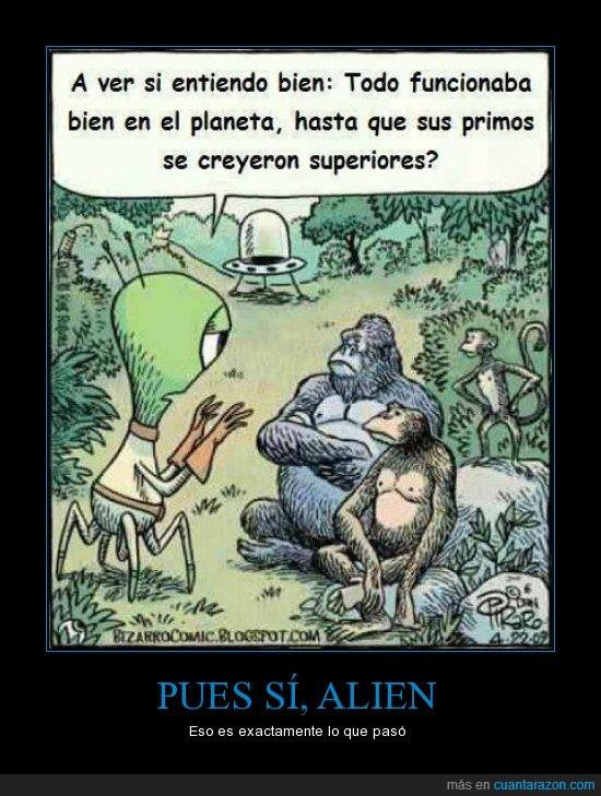 alien,cambio climatico,desgracia,humanos,monos,tierra