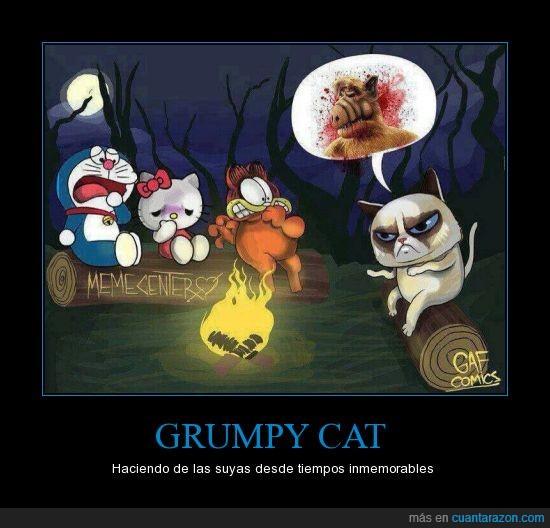 alf,explicar,garfield,grumpy cat,hello kitty,historia,terror