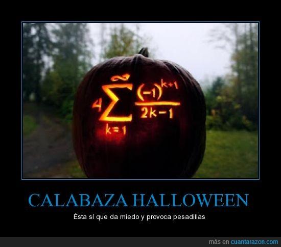 calabaza,calculo,formula,halloween,matemáticas,miedo,pesadillas