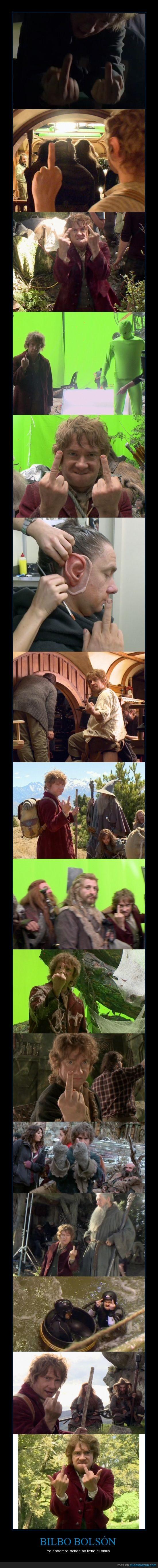 bilbo bolson,dedo,hobbit,peineta
