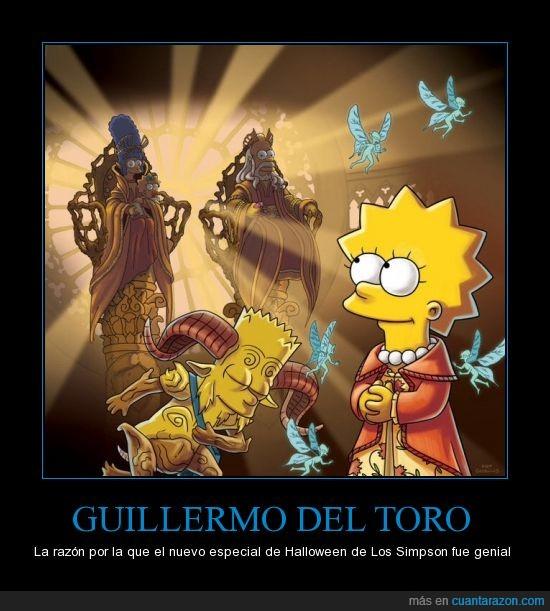Guillermo del toro,laberinto del fauno,los Simpson