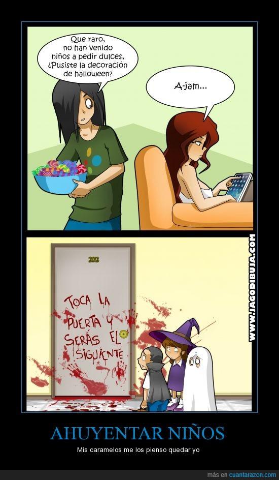Ahuyentar Niños,Arturo,Halloween,Jago,Sophie