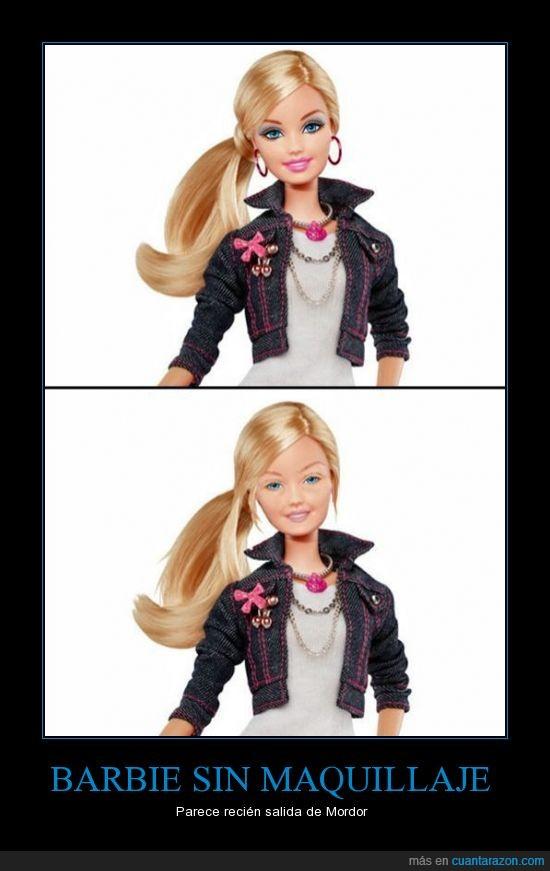 barbie,cara limpia,fea,feisima,maquillaje