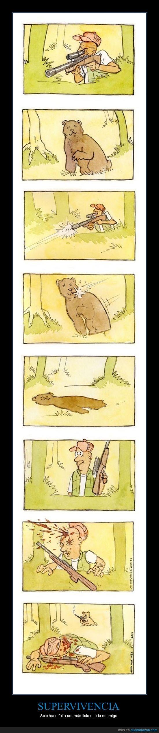 cartón,cazador,disparo,enemigo,listo hay,oso,para,que,ser,sobrevivir