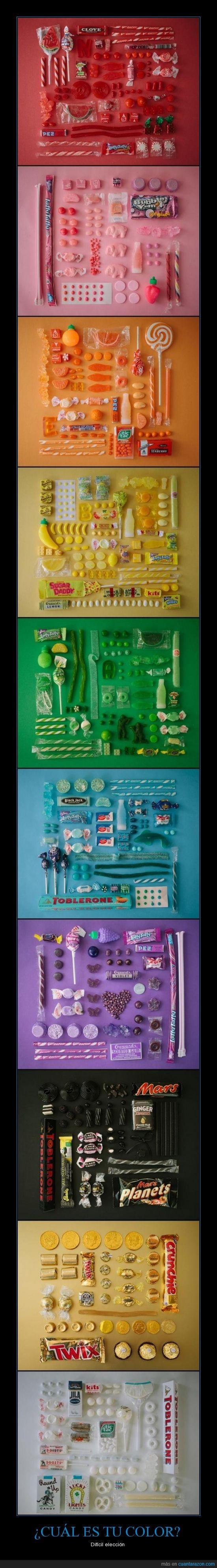 azul,blanco,chuches,color,comida,elegir,rojo