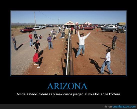 EEUU,frontera,mejicanos,mexicanos,mexico,mirar,volleyball