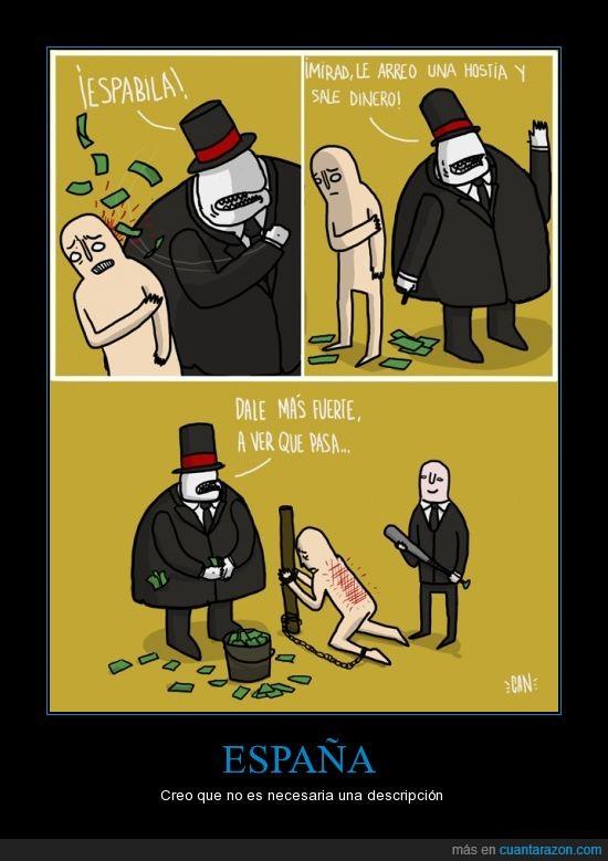 banquero,ciudadano,dinero,españa,funcionamiento,pegar,rico,sale