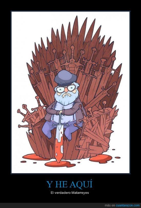 george rr martin,hierro,juego de tronos,matar,personajes,reyes,trono