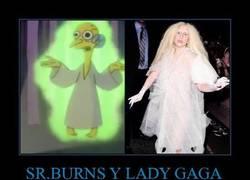 Enlace a SR.BURNS Y LADY GAGA