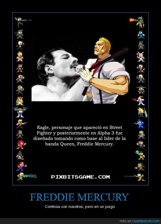 eagle,Freddie mercury,juego,personaje,street fighter