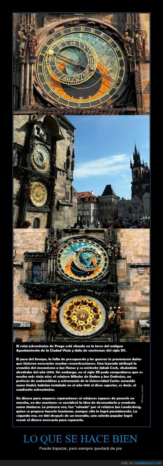 1410,Hacer,reloj astronomico de praga,segunda guerra mundial,siglos,tropezar