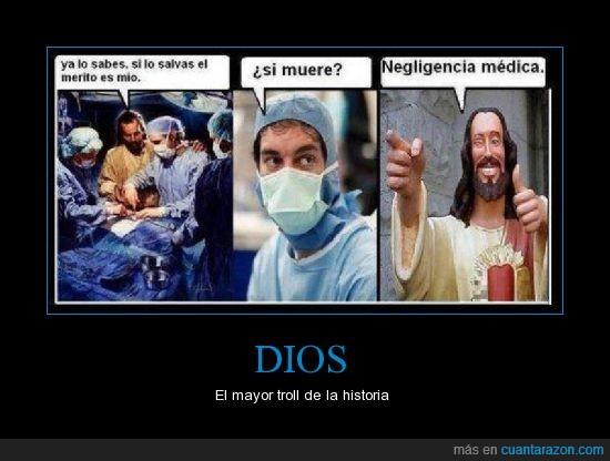creencia,dios,jesús,médico,negligencia,religión,troll
