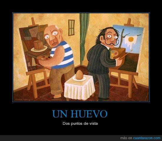 Arte,Cubismo,Dalí,Huevo,Picasso,Pintura,Surrealismo
