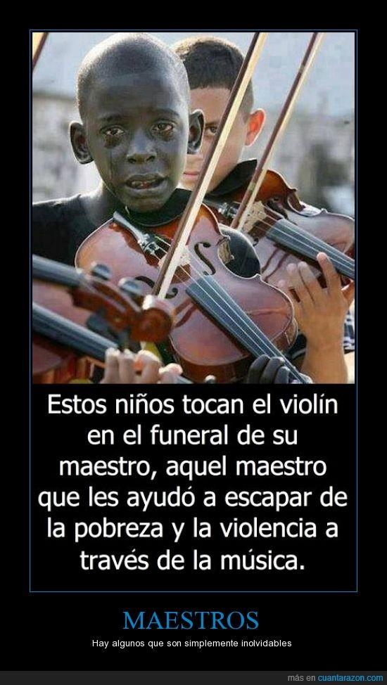 ayudar,funeral,llorar,niño,profesor,tocar,violin
