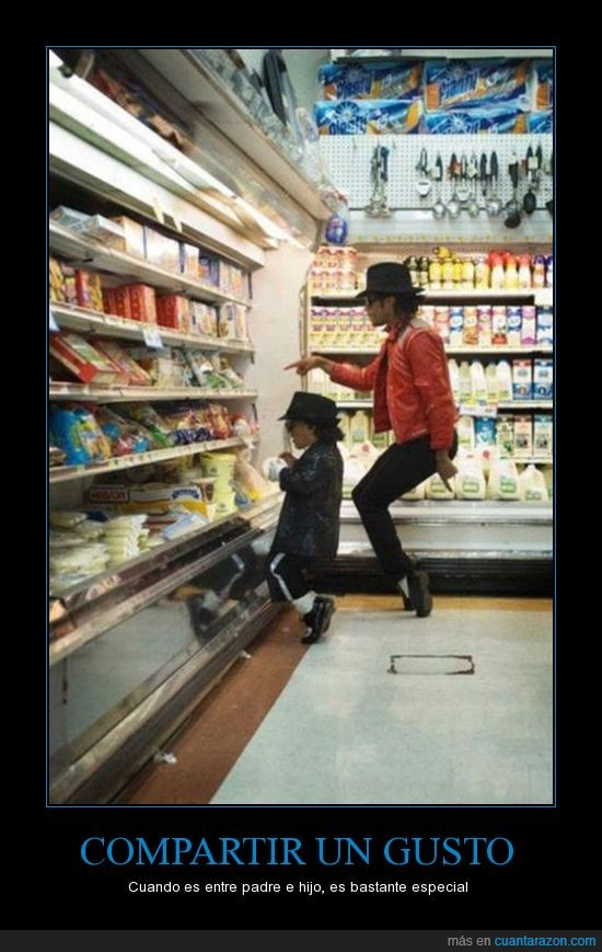 bailar,disfraz,michael jackson,nevera,queso,supermercado,yogures