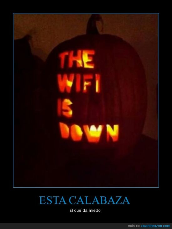 calabaza,conexion,halloween,internet,miedo,perder,wifi