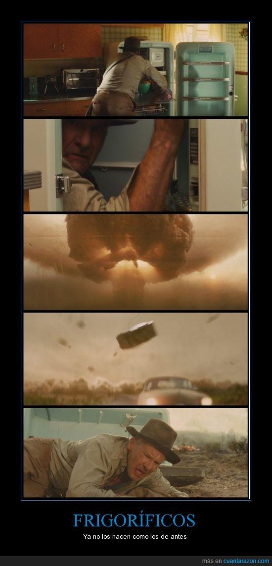 bomba atómica,frigorífico,Indiana Jones,reino de la calavera de cristal