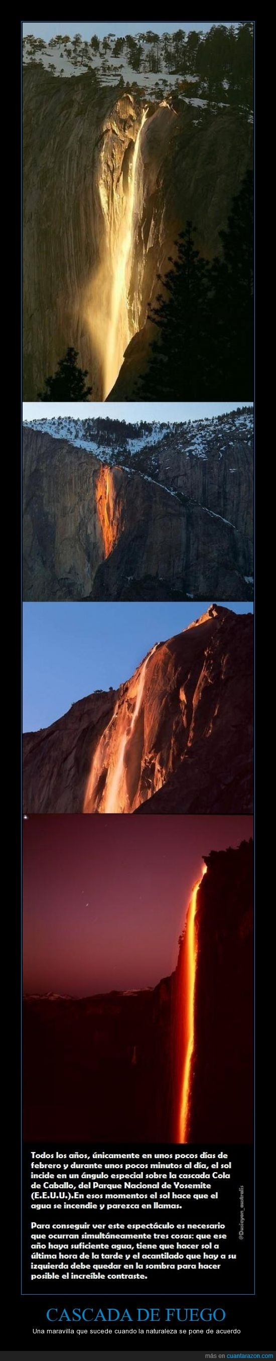 cascada,Cascada de fuego,Estados unidos,EUA,fuego,maravilla natural,naturaleza