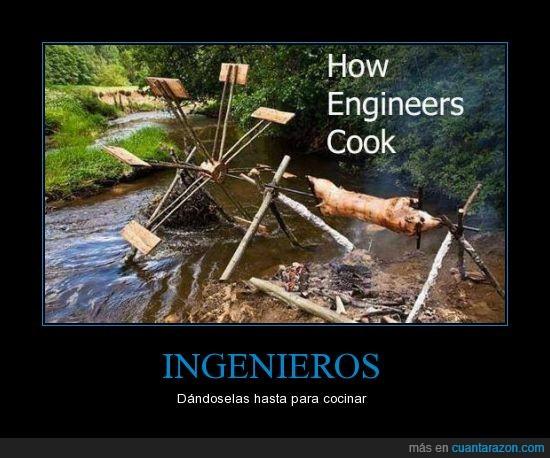 agua,barbacoa,cochinillo,cocina,engineer,fuego,ingeniero,molino,mover