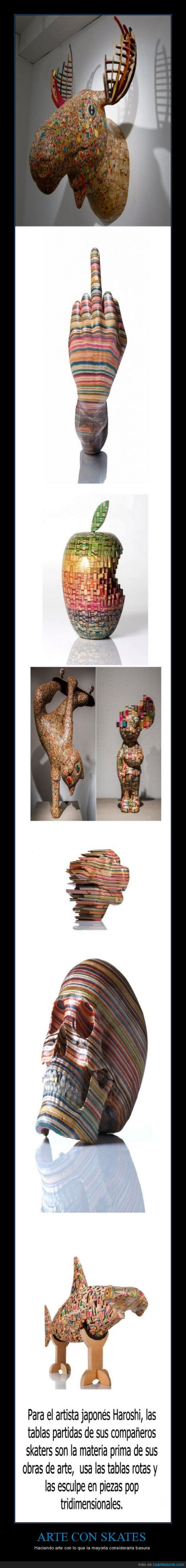 arte,calavera,escultura,haroshi,partida,partir,pieza,skate,skaters,tabla