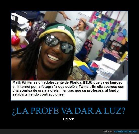 Cabroncete,Contracciones,facebook,foto,juas Whiter,Parto,profesora