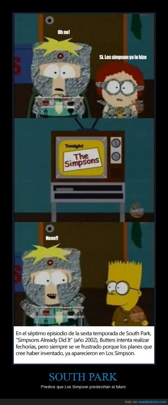 Basta de carteles de predicciones de los simpson (si,Butters,Los Simpson,Simpsons Already Did It,South Park,ya se que este es uno más de esos -.- )