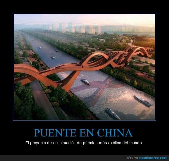 asiáticos,China,construcción,exótico,Meixi Lake,provincia de Hunan,puente,raro,Shanghái