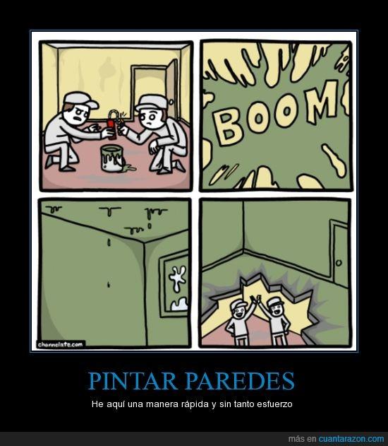 dinamita,explosion,necesitaran ahora un contratista,pintar,pintores,pintura,verde