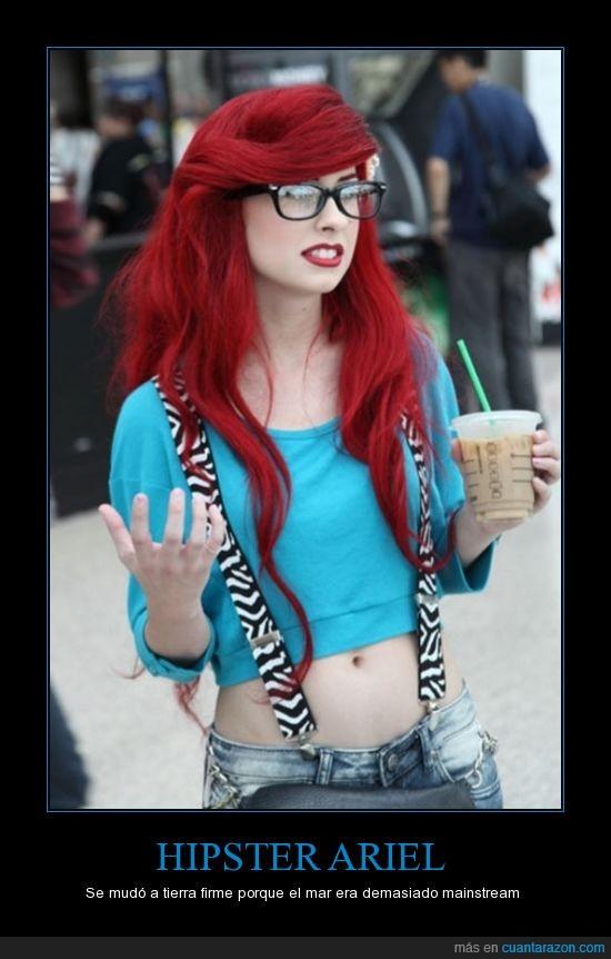 Ariel La Sirenita,hipster,starbucks