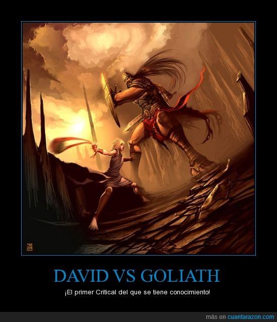 ataque,critial hit,david,gamer,goliath,One Turn Kill,videojuegos