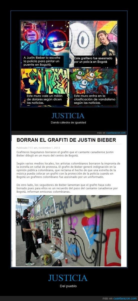 graffiti,Justica,justin,policia,pueblo