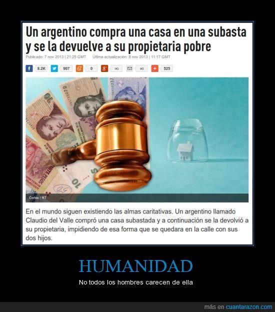 argentina,compra casa y la devuelve a su dueña,héroe,humanidad