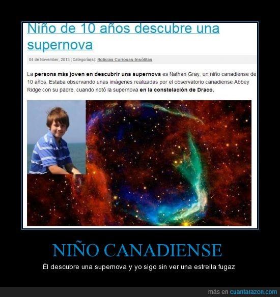 canada,canadiense,descubre,niño,no es asiatico,supernova
