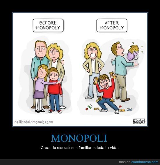 amor,discusion,el niño se las goza,familia,llorar,monopoli,pelea