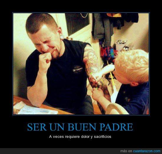 colores,imaginacion,niño,padre,padre del año,pintar,tatuador,tatuaje