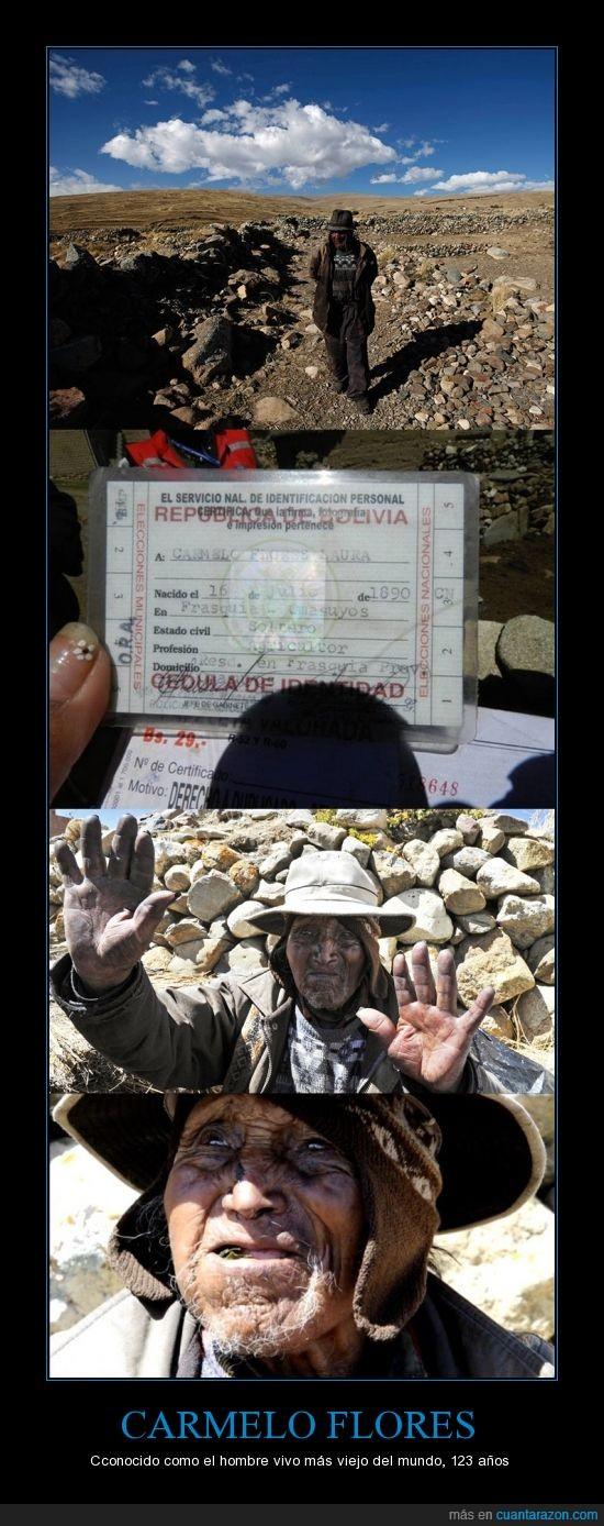 123 años,Boliviano,centenario,edad,mayor,viejo,vivo