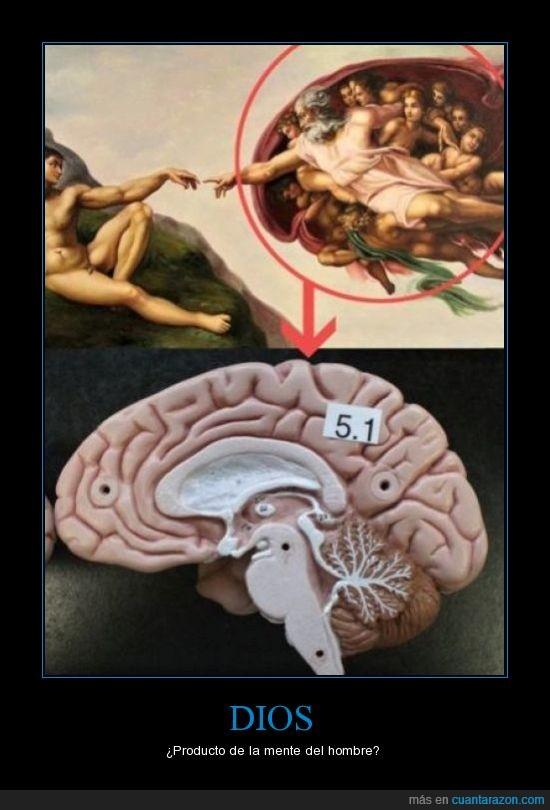 Capilla Sixtina,Cerebro,Dios no existe,Imaginación,Miguel Angel lo sabia