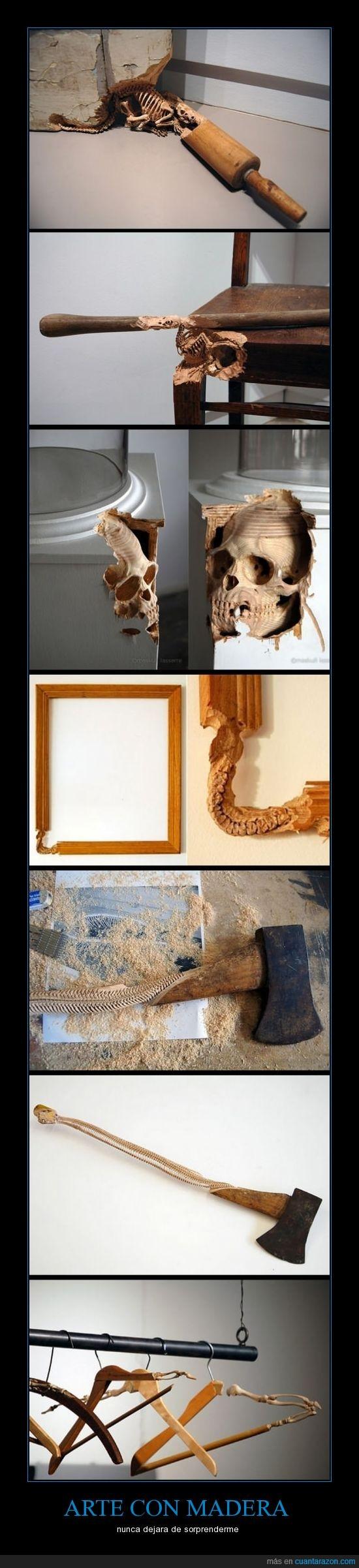 arte,huesos,madera