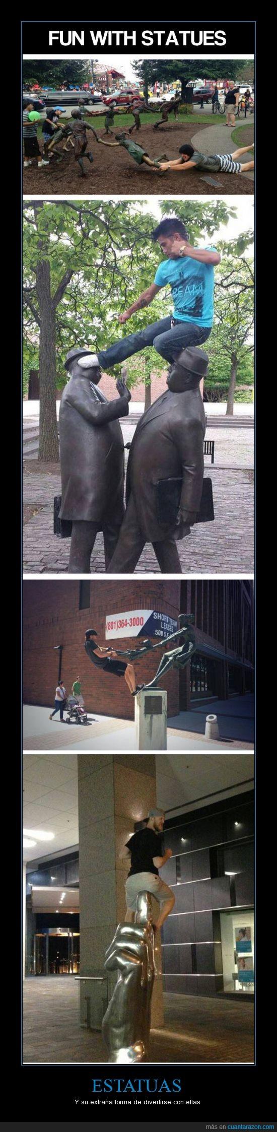 ayuda,correr,dedo,encima,estatua,figura,hostia,pose