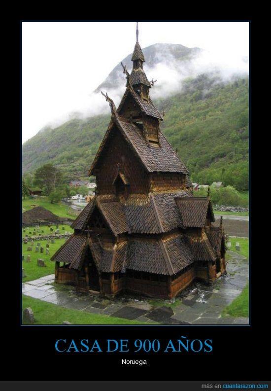 años,antiguo,casa,lugar,noruega
