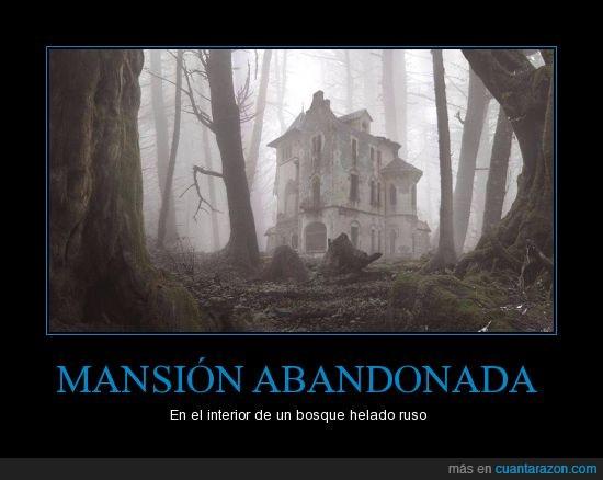 Abandonada,Bosque,Mansión,miedo,niebla,Rusia