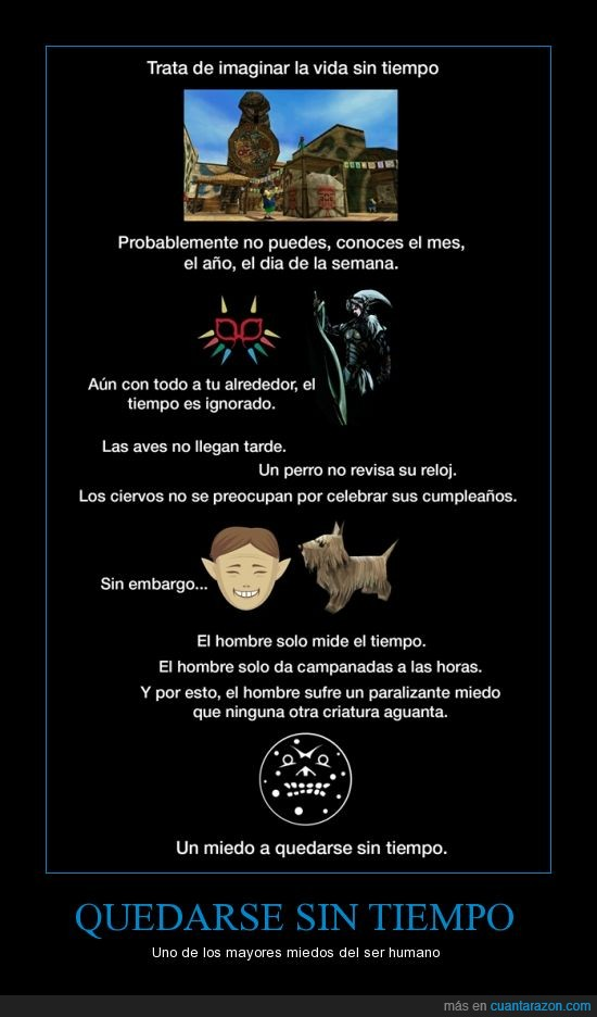 enseñansa,Humano,The Legend of Zelda Majora's Mask,Tiempo