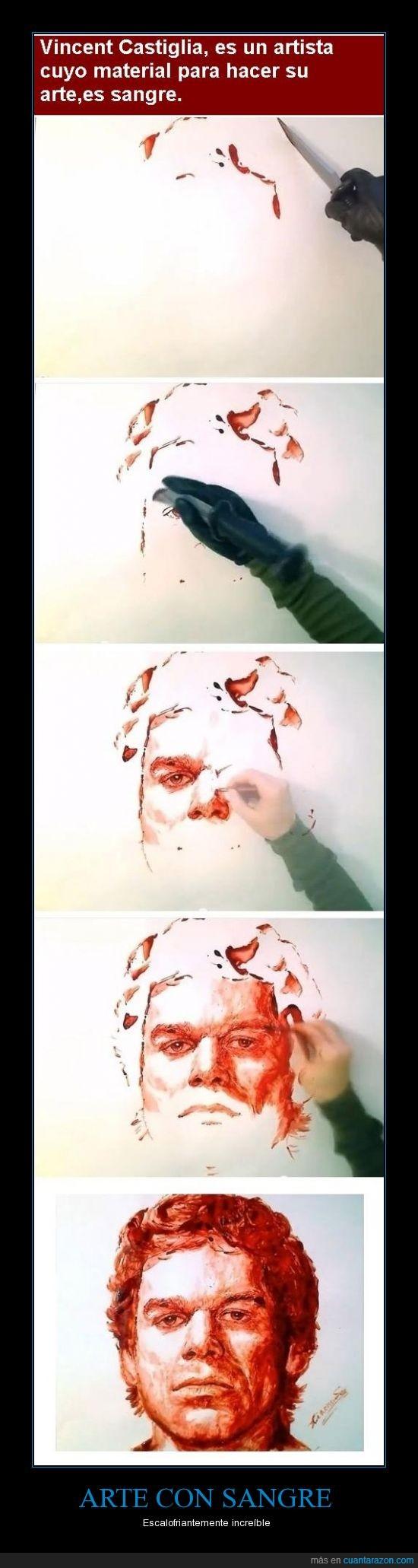 arte,dexter,increible,sangre,Vincent Castiglia