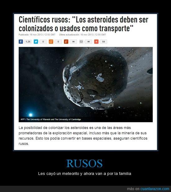 asteroide,colonizar,meteorito,rusia,ruso,transporte