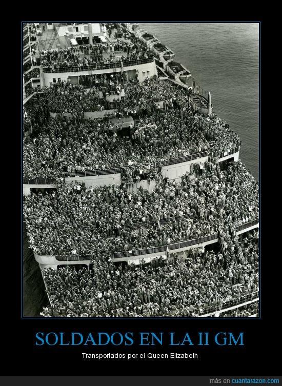 alguien ha visto mi lentilla,barco,gente,guerra,ii gm,mucha,multitud,soldados