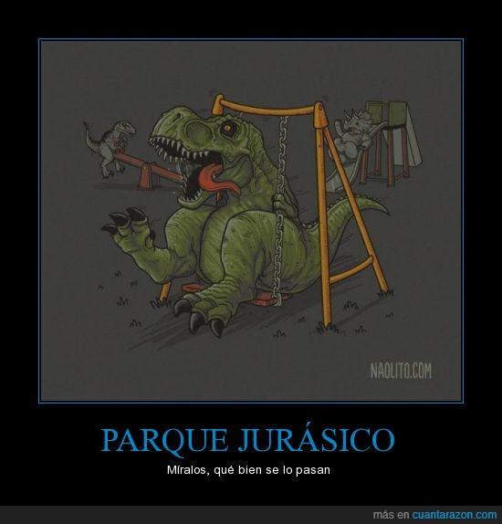 carcajadas,chiste,dinosaurios,diversion,grafica,humor,jurasico,lol,Parque,rex,risas