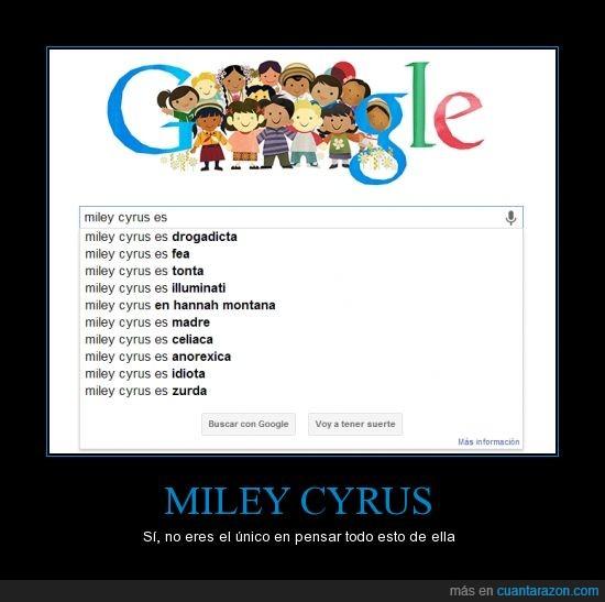 google,miley,mundo,no la pintan muy bien